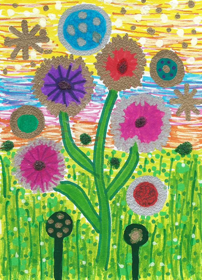 Funky Flowers Return by Susan Schanerman