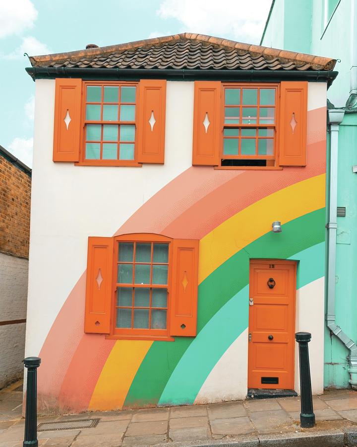 Funky Rainbow House by Gabor Estefan