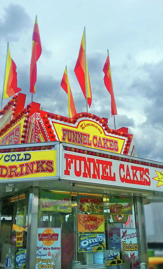 Funnel Cakes And Cold Drinks Photograph
