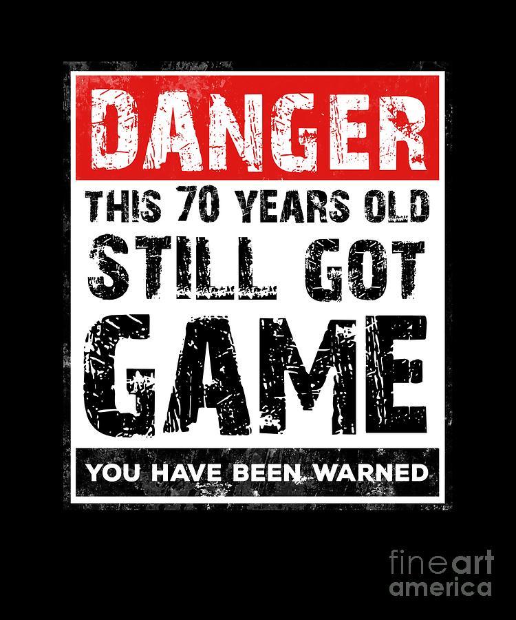 Funny 70th Birthday Game Tshirt 70 Year Old Birthday Gift Drawing