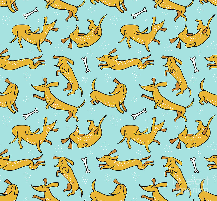 Funny Fabric Design. Seamless Pattern Digital Art by Utro na more