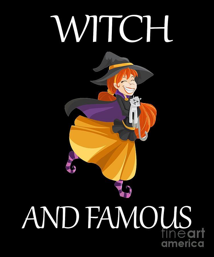 Funny Halloween Witch Design Halloween Witch And Famous Digital