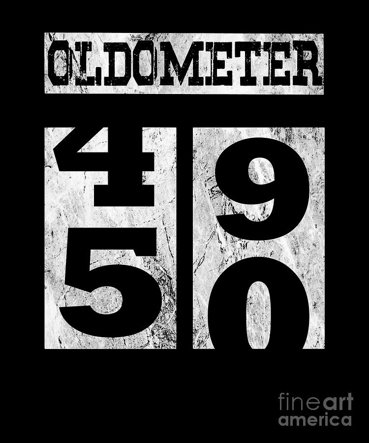 Funny Oldometer 50 Years Shirt 50th Birthday Gift