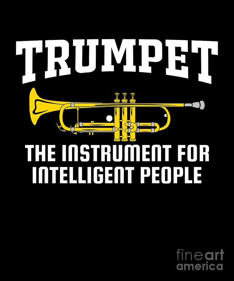 ea89f81a Funny Trumpet Brass Instrument Jazz Musician Gift Digital Art by MUC ...
