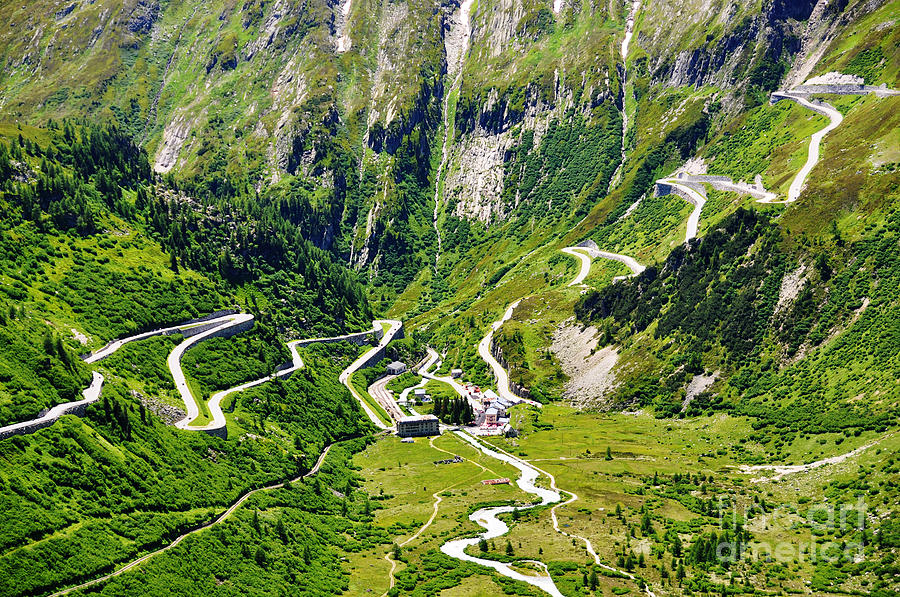 Alps Photograph - Furka Pass Switzerland by Alexander Chaikin