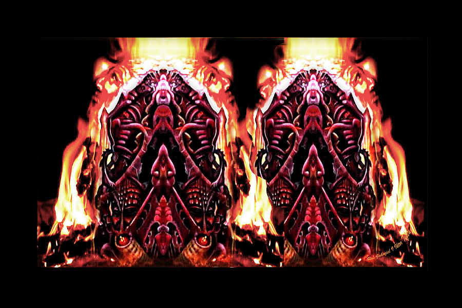 Abstract Digital Art - Furnace by Ras Tafari