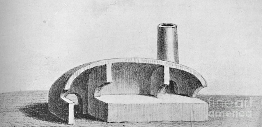 Furnace Used In The Smelling Of Copper Drawing by Print Collector