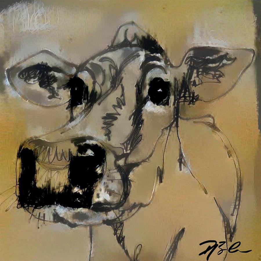 Furry Moo Cow by Dawn Bearden