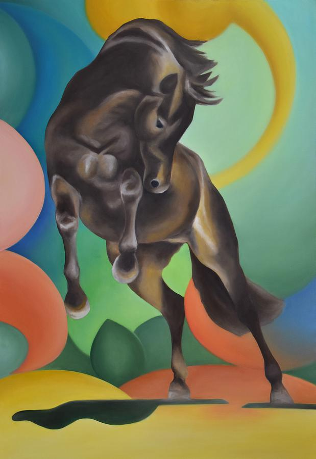 Horse Painting - Future Horse by Francesca Provetti