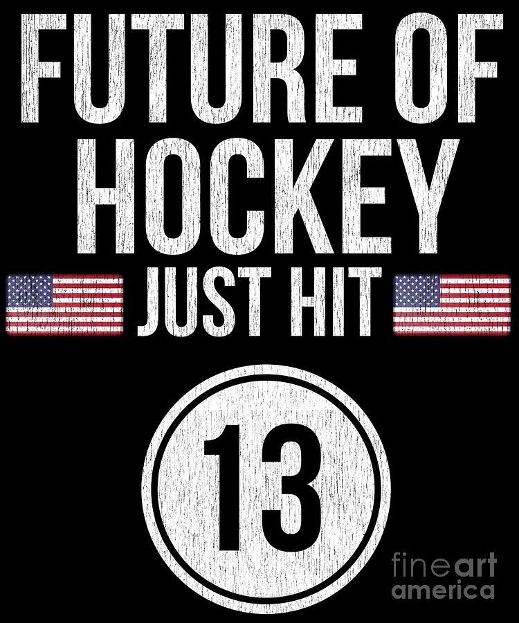 Christmas Digital Art - Future Of Ice Hockey Just Hit 13 Teenager Teens by Jose O