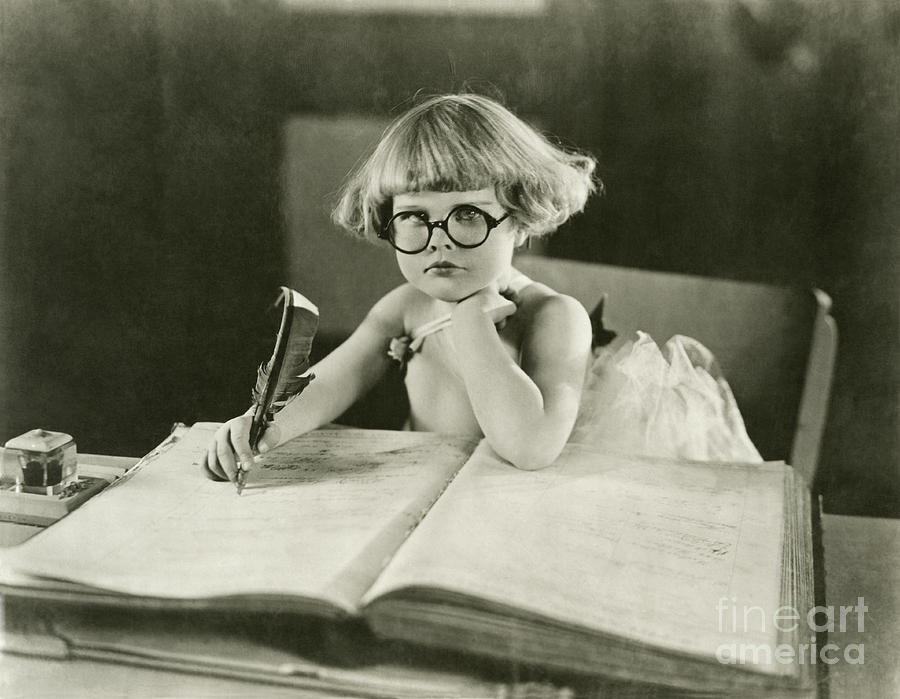Innocence Photograph - Future Writer by Everett Collection