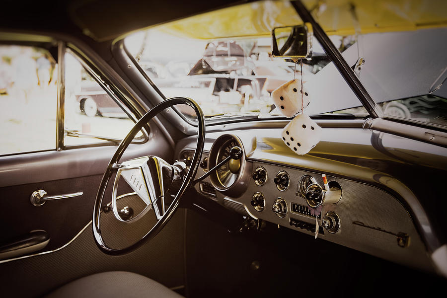 Vehicle Photograph - Fuzzy Dice by Scott Norris
