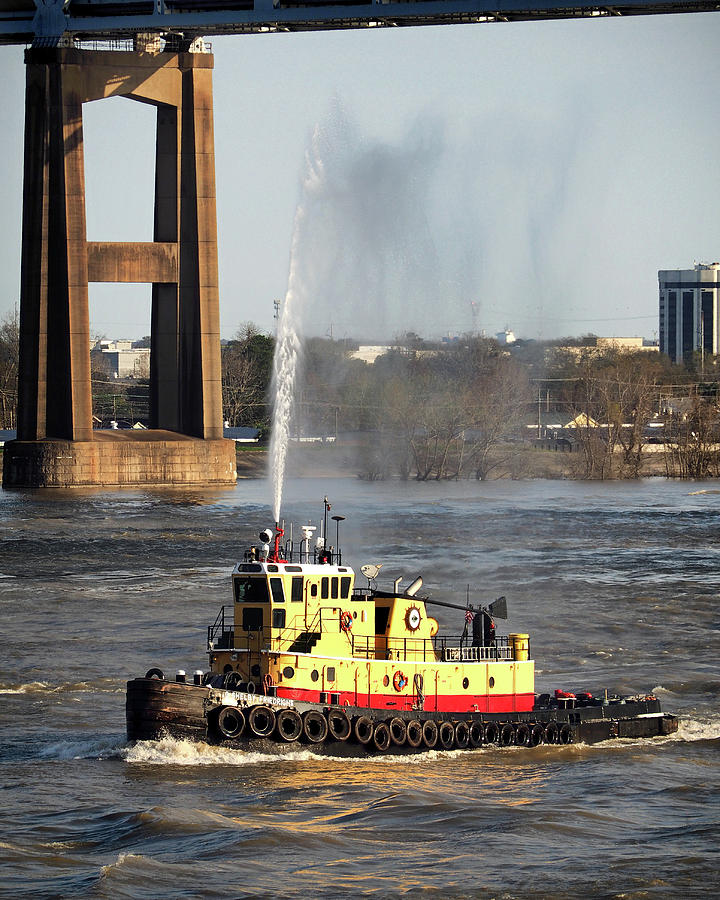 G. Shelby Friedrichs Tugboat at New Orleans by Bill Swartwout Fine Art Photography