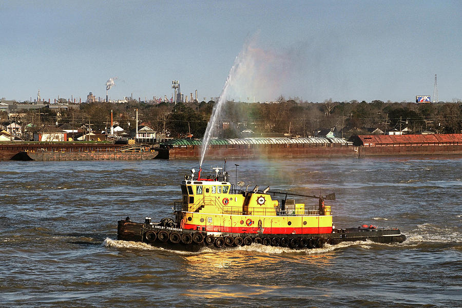 G. Shelby Friedrichs Tugboat on the Mississippi by Bill Swartwout Fine Art Photography
