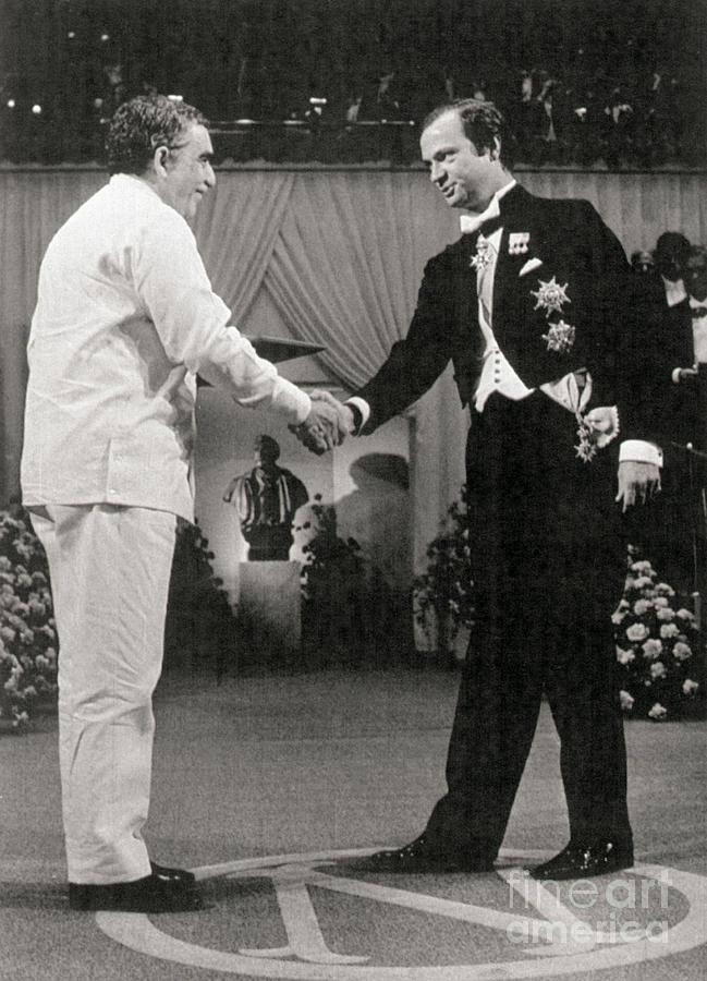 Gabriel Garcia Marquez Receiving Nobel Photograph by Bettmann
