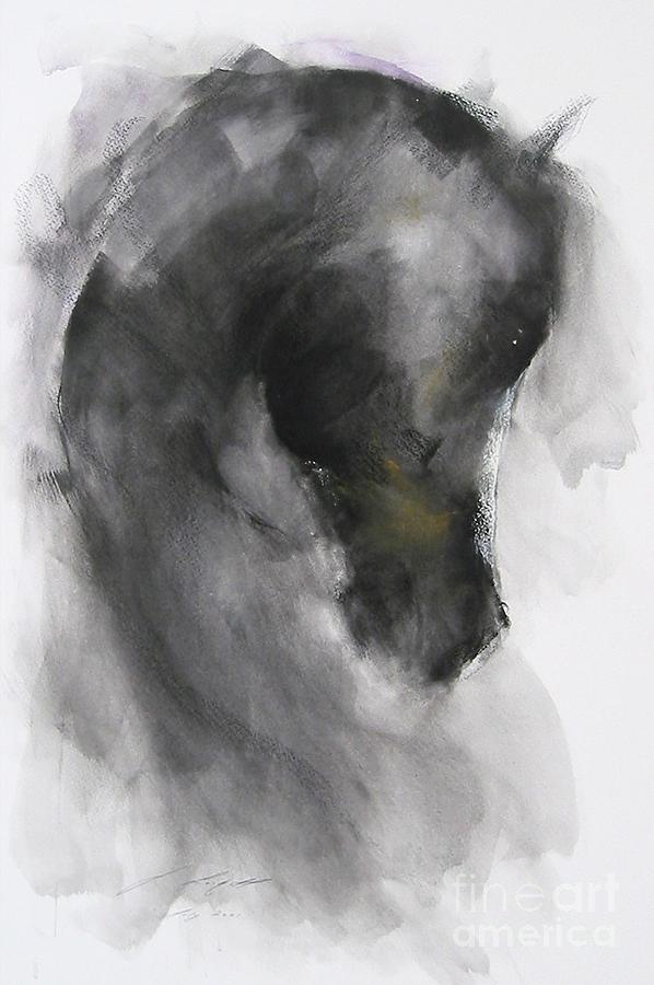Horse Painting - Gabriel by Janette Lockett