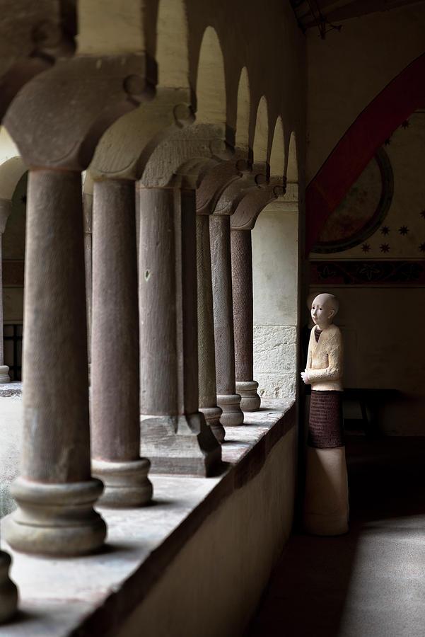 Gaby Kretz's sculpture in the cloister of Saint-Pierre-le-Jeune Protestant Church, Strasbourg by RicardMN Photography