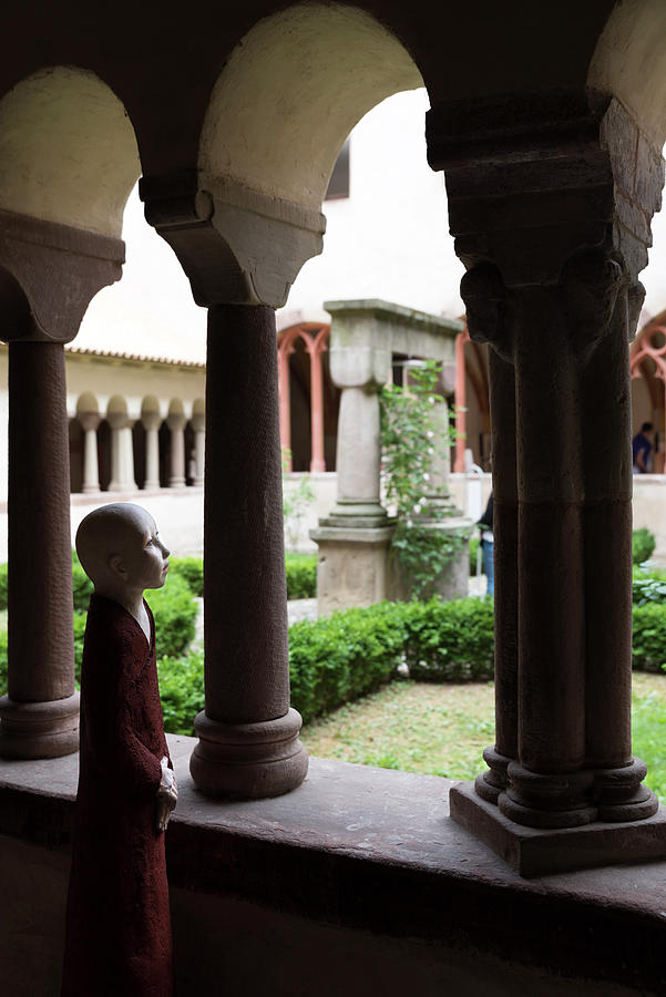 Gaby Kretz's Sculpture Looking Through The Window Of The Cloister by RicardMN Photography