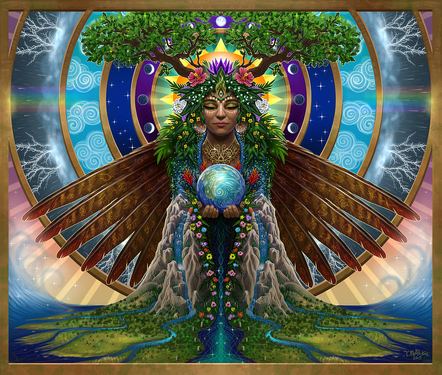 Gaia Painting - Gaia Sacred System by Cristina McAllister