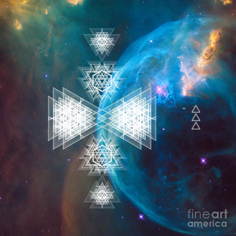 Galactic Art Sacred Geometry by Nathalie DAOUT