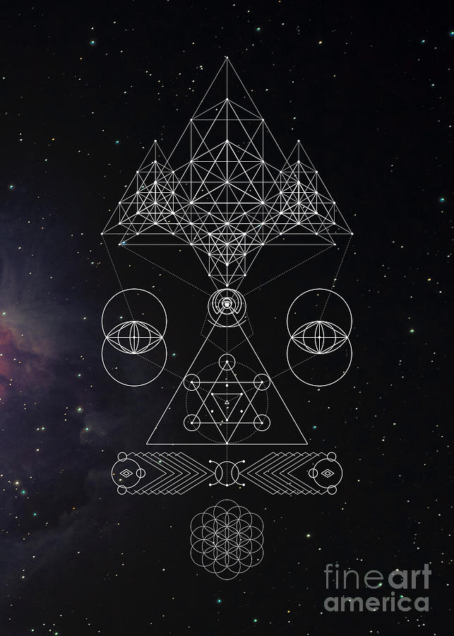 Galactic Awareness Sacred Geometry by Nathalie DAOUT