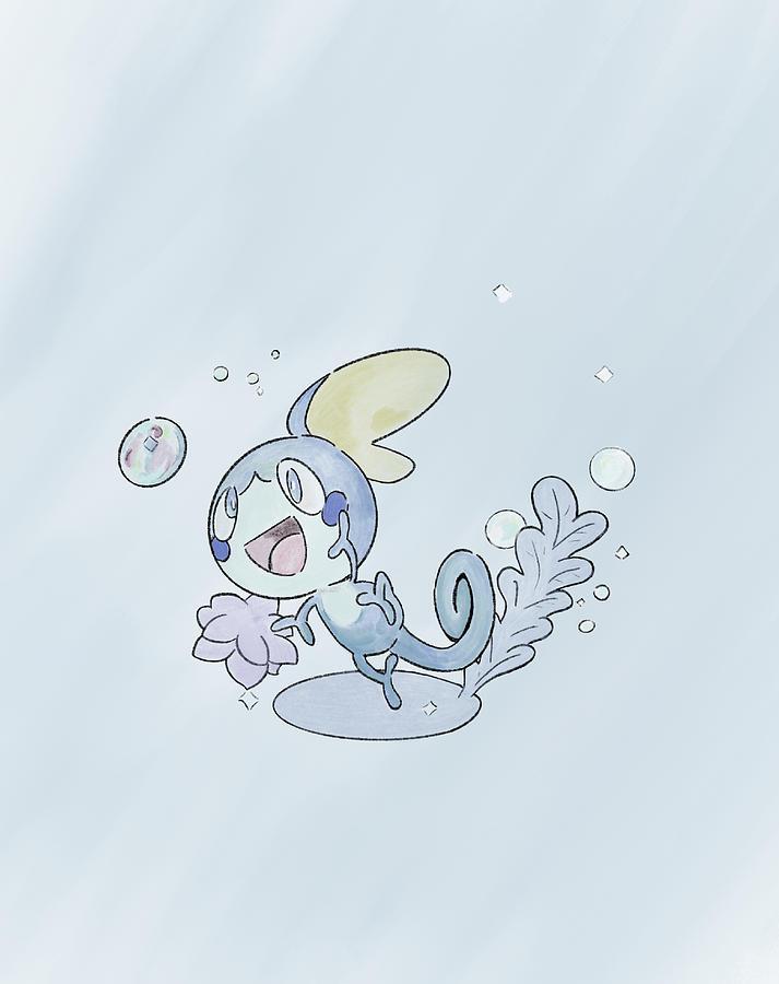 Galar Water Starter - Team Sobble by Uwaki Art