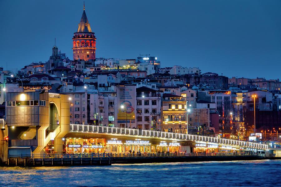 Galata bridge and Karakoy by Fabrizio Troiani