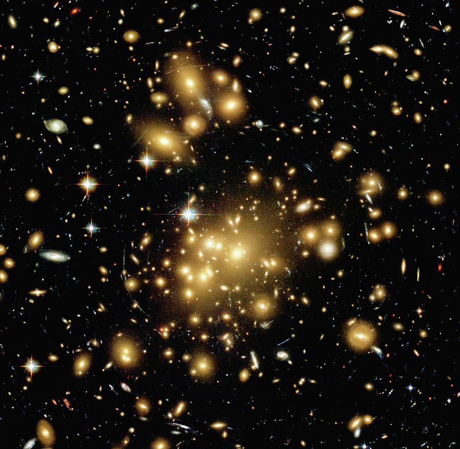Galaxy Cluster Abell 1689, Satellite Photograph by Stocktrek