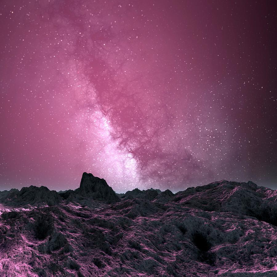Galaxy Seen From An Alien Planet Digital Art by Mehau Kulyk