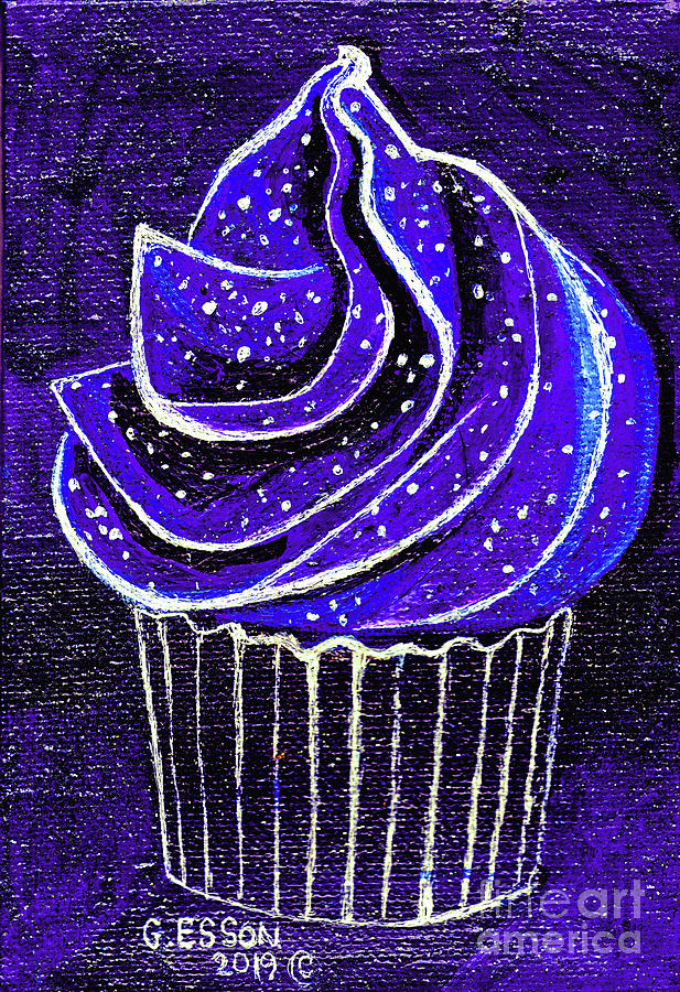 Sweet Painting - Galactic Universe Cupcake by Genevieve Esson