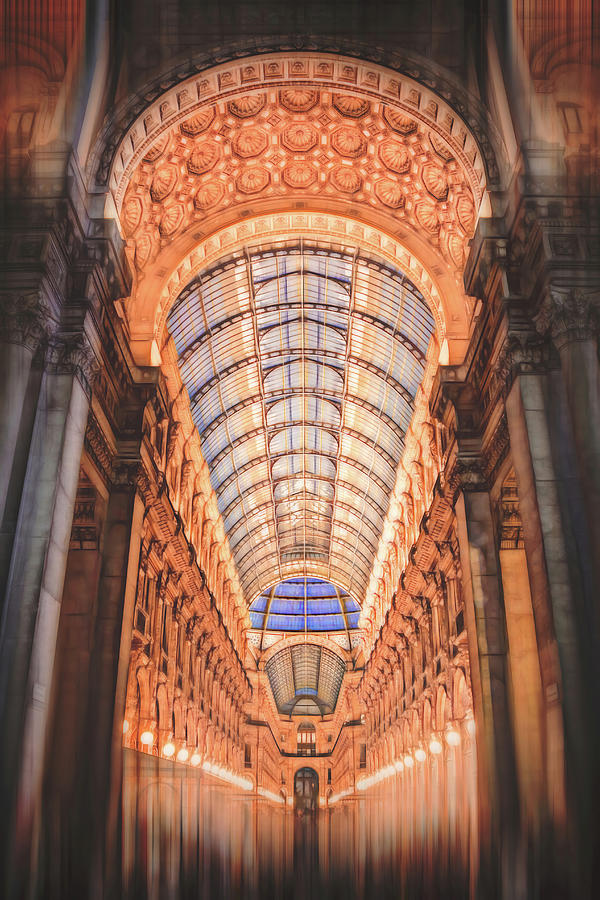 Milan Photograph - Galleria Vittorio Emanuele II Milan Italy By Night by Carol Japp