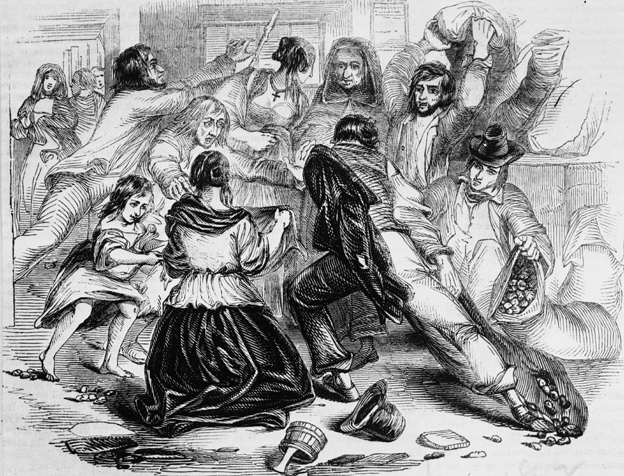 Galway Starvation Riots Photograph by Illustrated London News