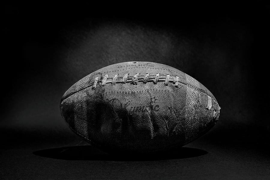 Game Ball - Black And White Photograph