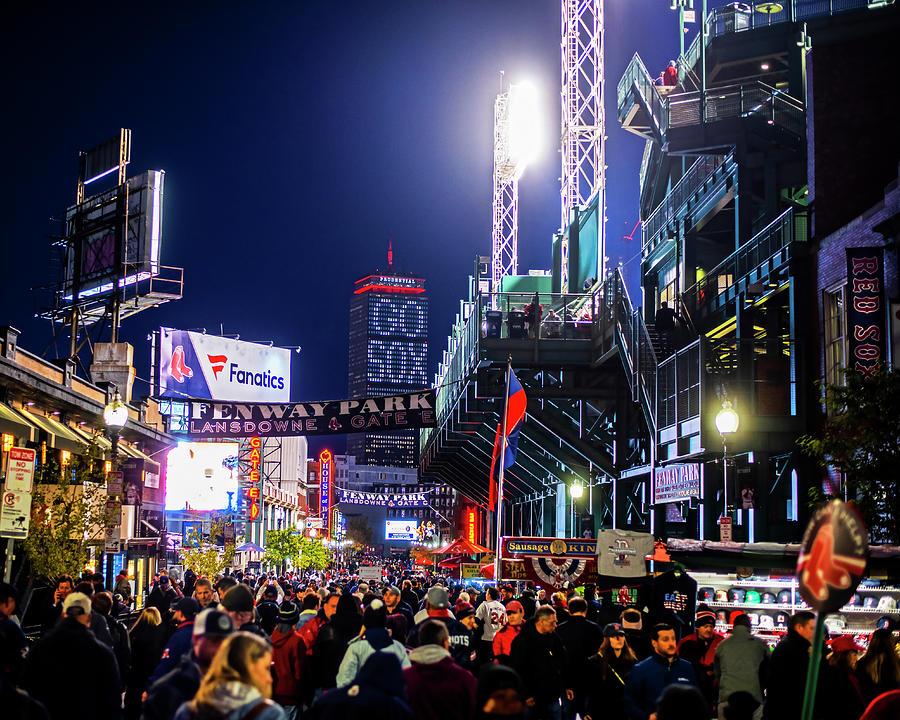 Game night on Lansdowne Street 2018 World Series Red Sox Boston MA by Toby McGuire
