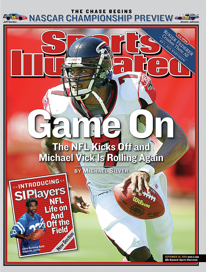 Game On The Nfl Kicks Off And Michael Vick Is Rolling Again Sports Illustrated Cover Photograph by Sports Illustrated