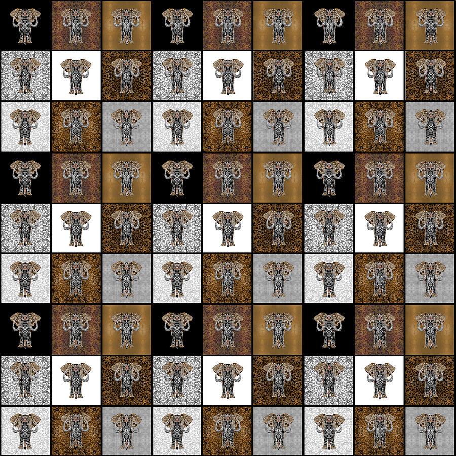 Ganesha Check Pattern by Diego Taborda