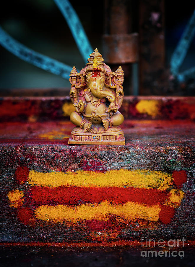 Ganesha on a Rural Hindu Temple by Tim Gainey