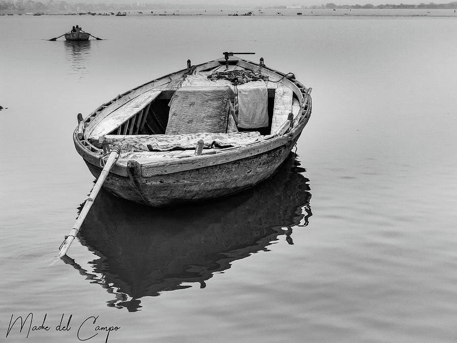 Ganges boat by Mache Del Campo