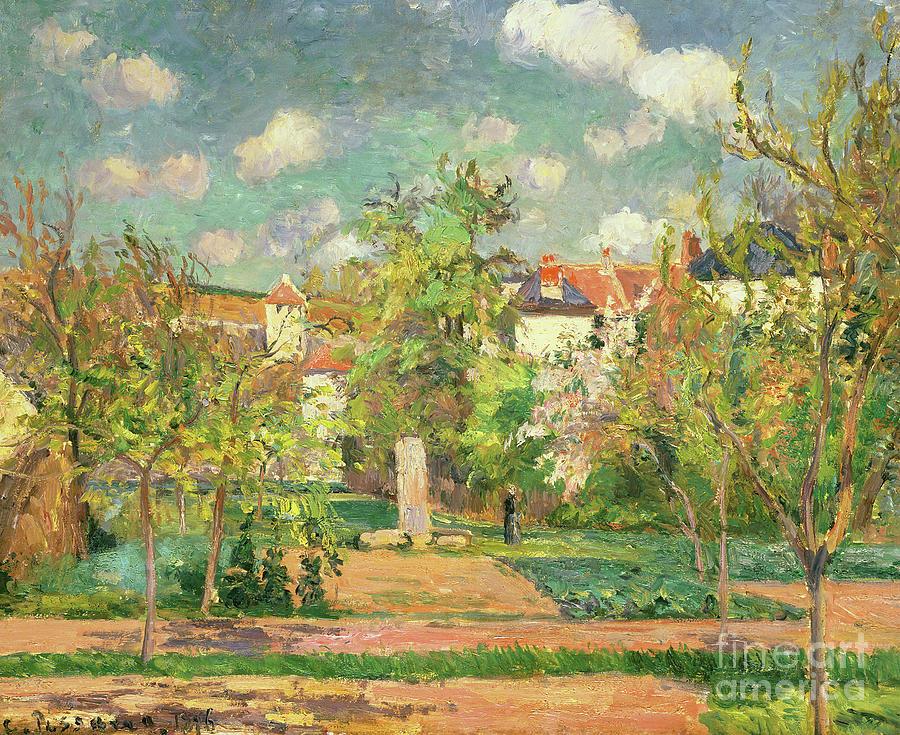 Garden Painting - Garden, Circa 1876 by Camille Pissarro