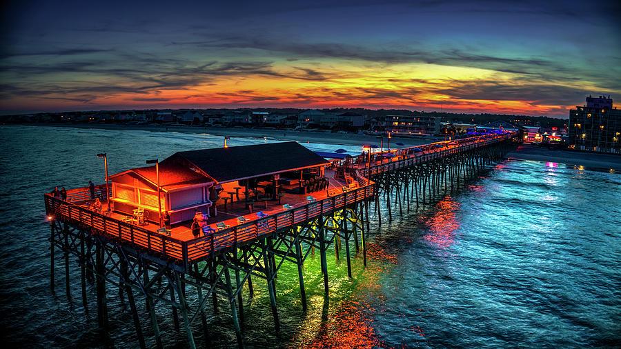 Garden City Pier Glowing Sunset by Robbie Bischoff