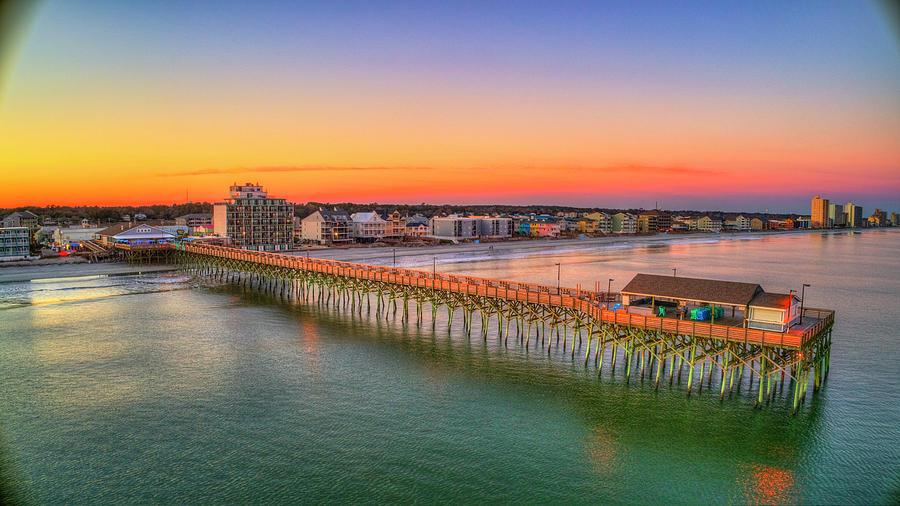 Garden City Pier Glowing Twilight by Robbie Bischoff