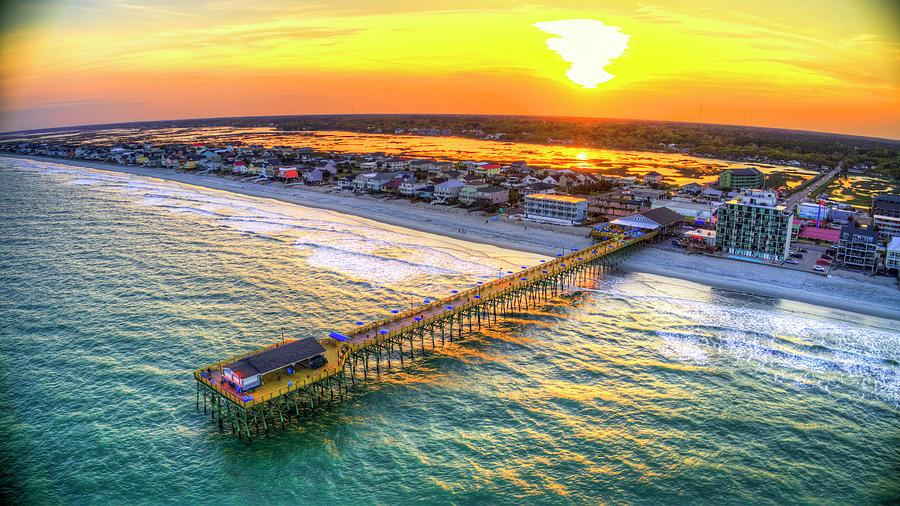 Garden City Pier Sunset by Robbie Bischoff