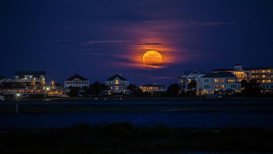 Garden City Strawberry Moonrise by Robbie Bischoff