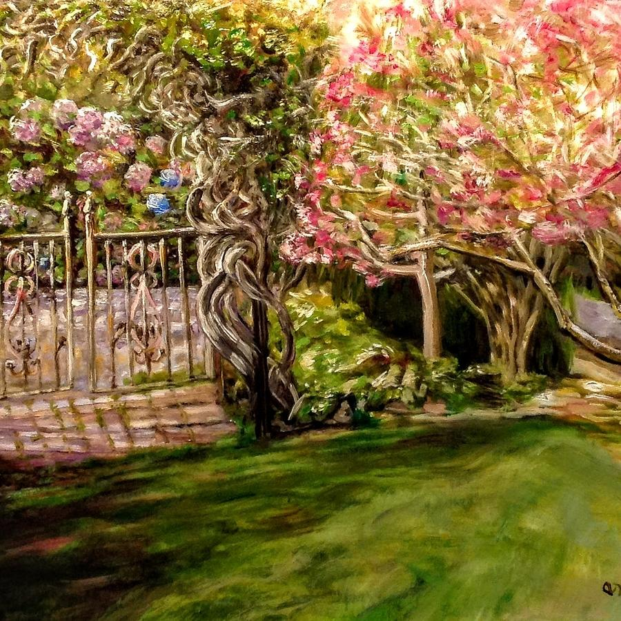 Garden Gate at Evergreen Arboretum by J Reynolds Dail