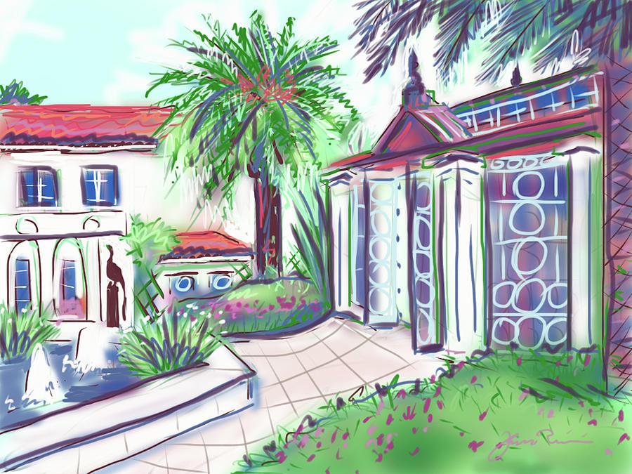Garden House Palm Beach by Jean Pacheco Ravinski