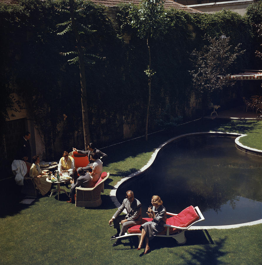 Garden In Madrid Photograph by Slim Aarons