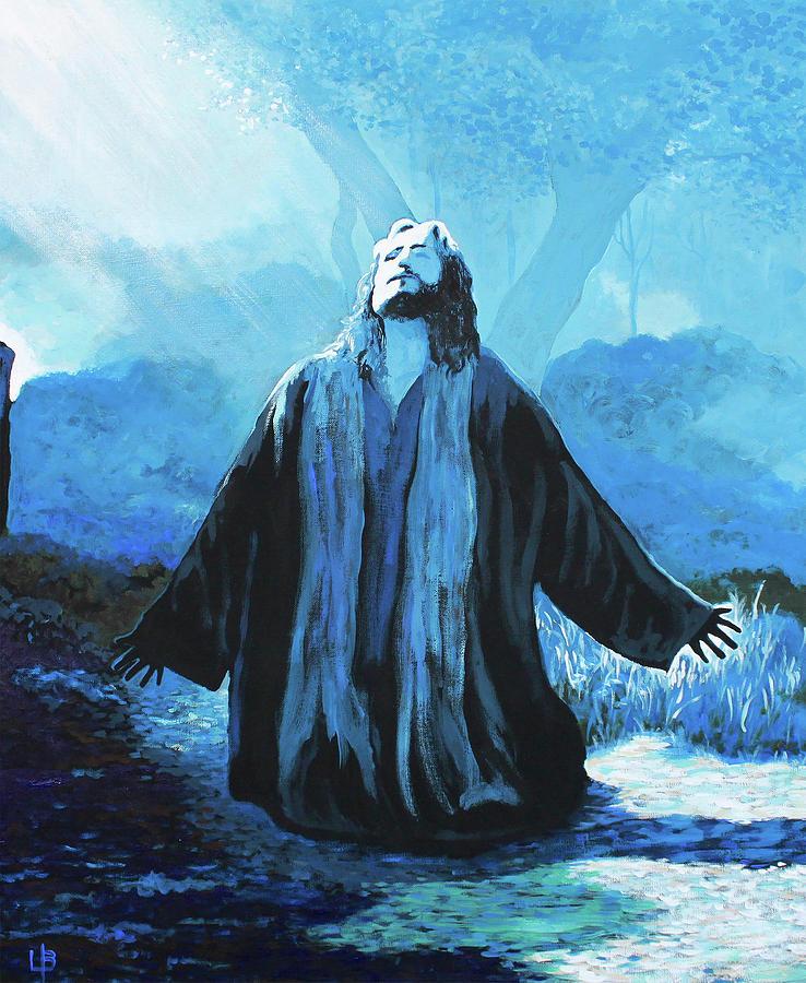 Garden Of Gethsemane - Jesus Praying by Lance Brown