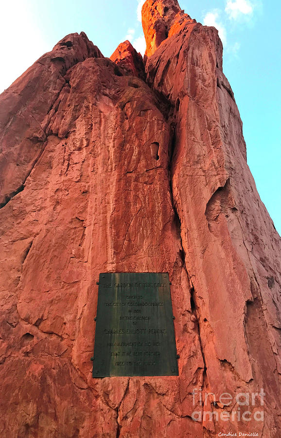 Garden Of The Gods Dedication Plaque