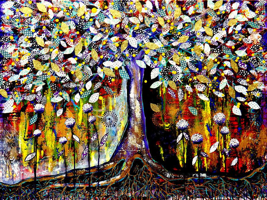Tree Painting - Garden Of Transformation by Goddess Rockstar