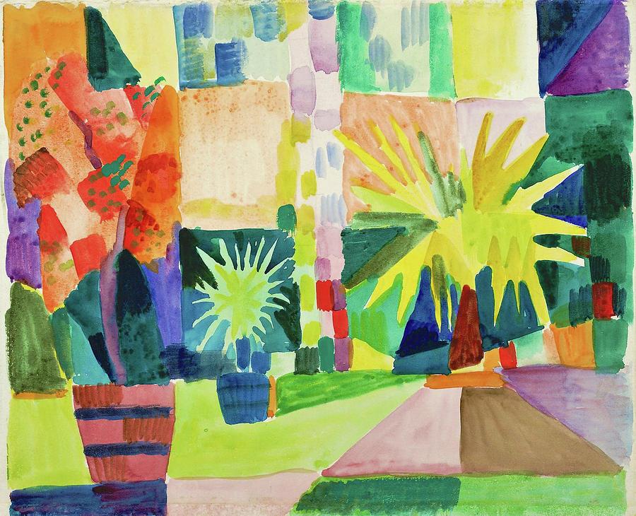 Garden on Lake Thun - Digital Remastered Edition by August Macke